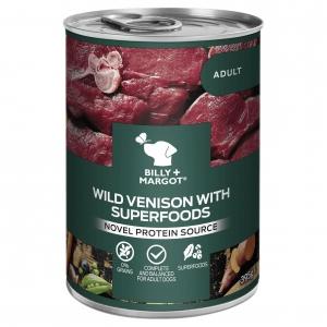 Billy + Margot Wild Venison with Superfooods Cans 12 x 395gm