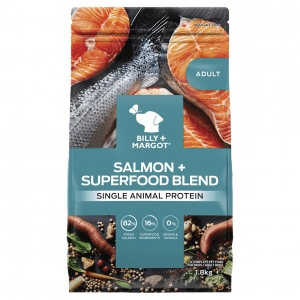Billy + Margot Adult Dry Salmon + Superfood Blend
