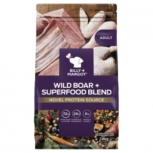 Billy + Margot Adult Dry Wild Boar + Superfood Blend