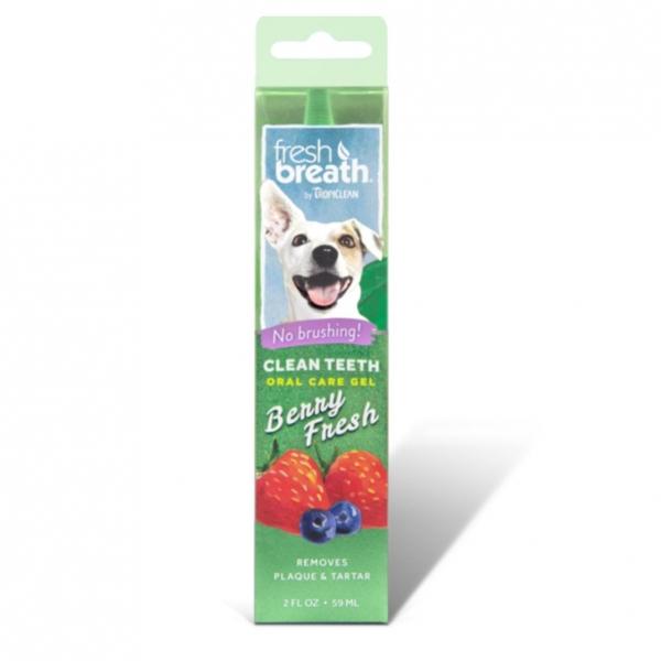TropiClean Fresh Breath Oral Care Gel Berry Flavour 59ml