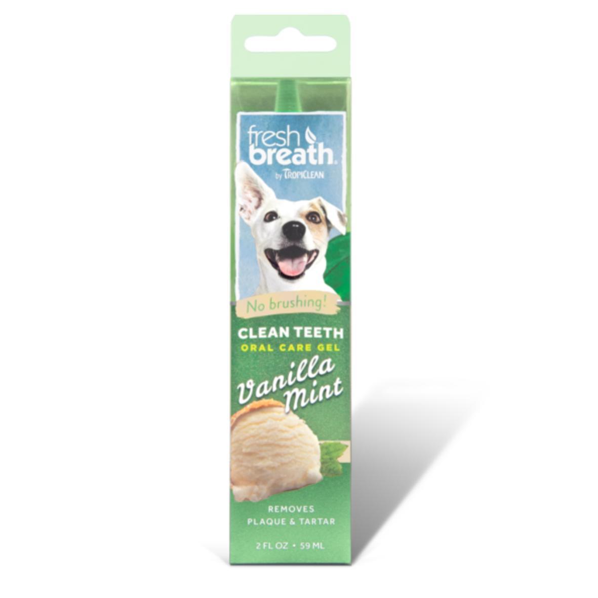 TropiClean Fresh Breath Oral Care Gel Vanilla Mint Flavour 59ml