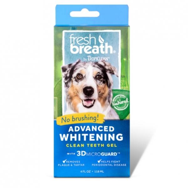 TropiClean Fresh Breath Advanced Whitening Clean Teeth Gel 118ml