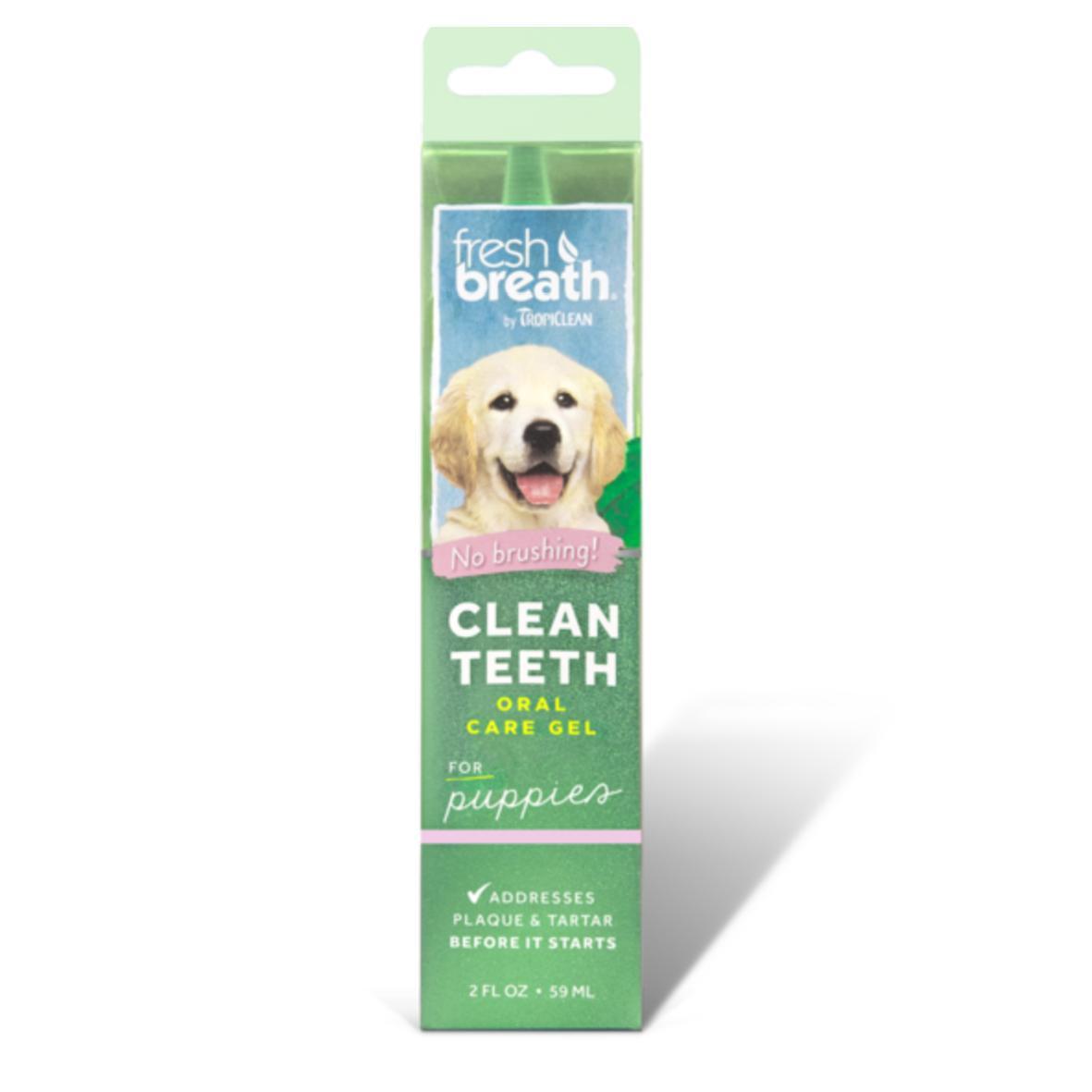 TropiClean Fresh Breath Oral Care Gel for Puppies 59ml