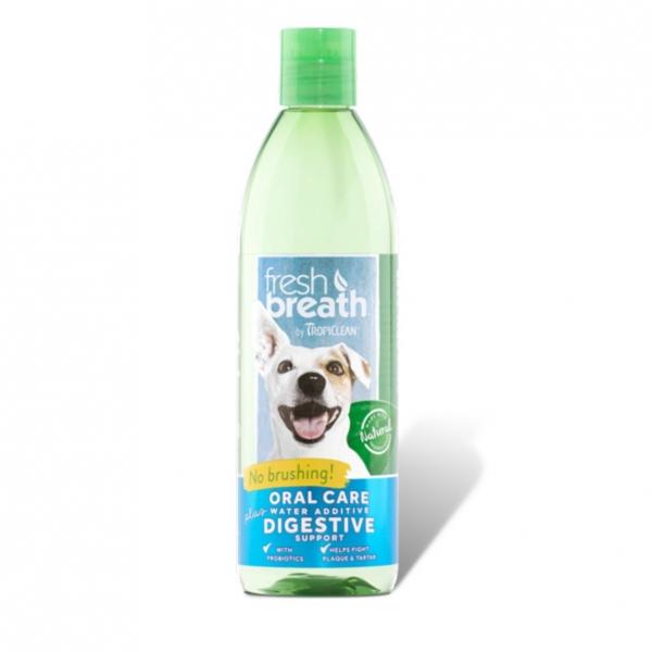 TropiClean Fresh Breath Water Additive plus Digestive Support 473ml