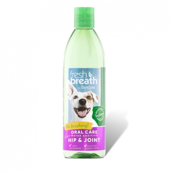 TropiClean Fresh Breath Water Additive plus Hip & Joint 473ml