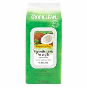 TropiClean Hypoallergenic Pet Wipes 100pcs