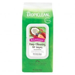 TropiClean Deep Cleaning Pet Wipes 100pcs