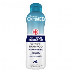 TropiClean OxyMed Anti Itch Medicated Oatmeal Shampoo