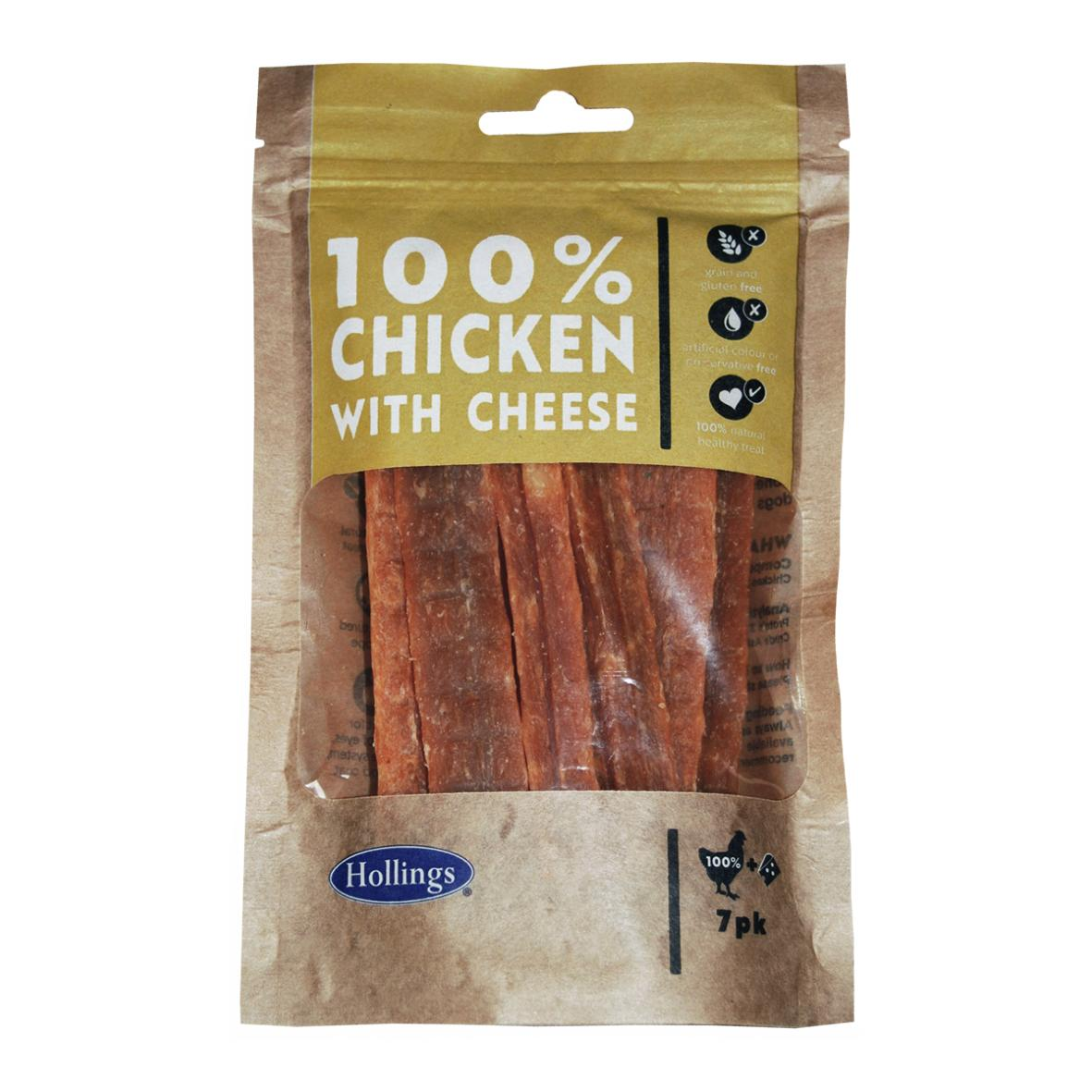 Hollings 100% Chicken with Cheese Bars 13cm 7pcs