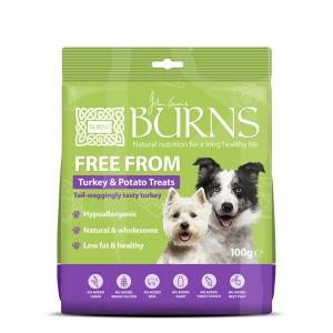 Burns Free From Turkey & Potato Treats 100gm