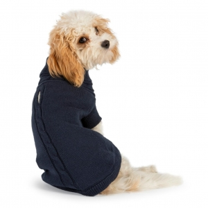 Ancol Muddy Paws Cable Knit Jumper Navy Blue