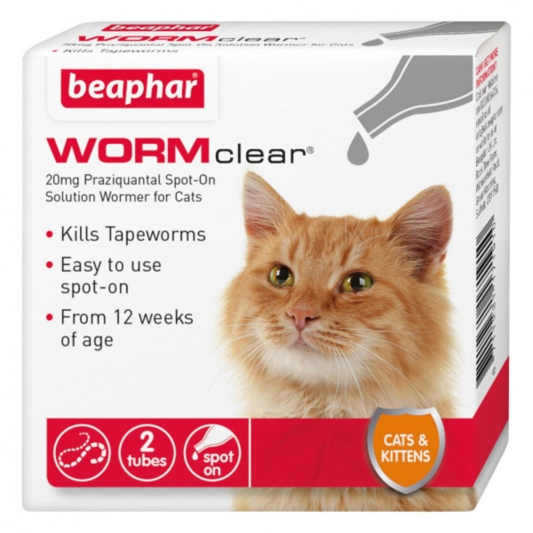 Beaphar WORMclear Spot On for Cats and Kittens