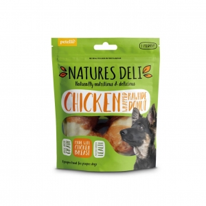 Natures Deli Chicken Wrapped Rawhide Donut 1pc