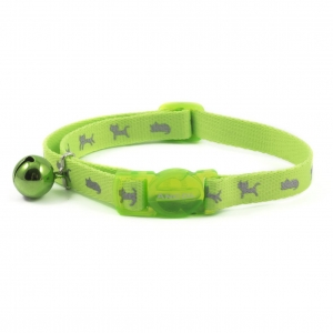 Ancol Neon Reflective Kitten Collar Green