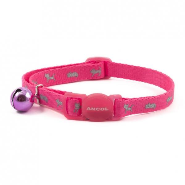 Ancol Neon Reflective Kitten Collar Pink