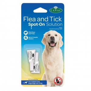 Canac Flea & Tick Spot On Solution for Medium/Large Dogs