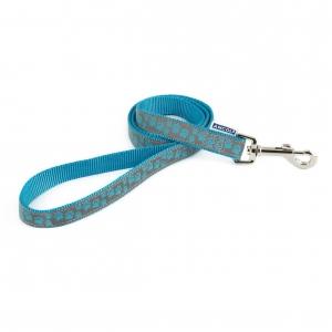 Ancol Fashion Reflective Paw Lead Blue