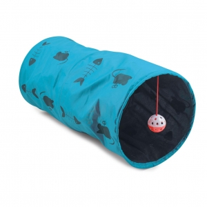Ancol Cat Play Tunnel Blue 50cm