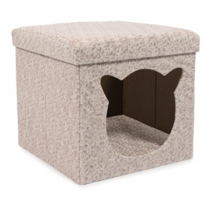 Ancol Crushed Velvet Cat Cabin 40cm