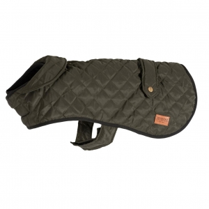 Ancol Muddy Paws Heritage Quilted Coat Green