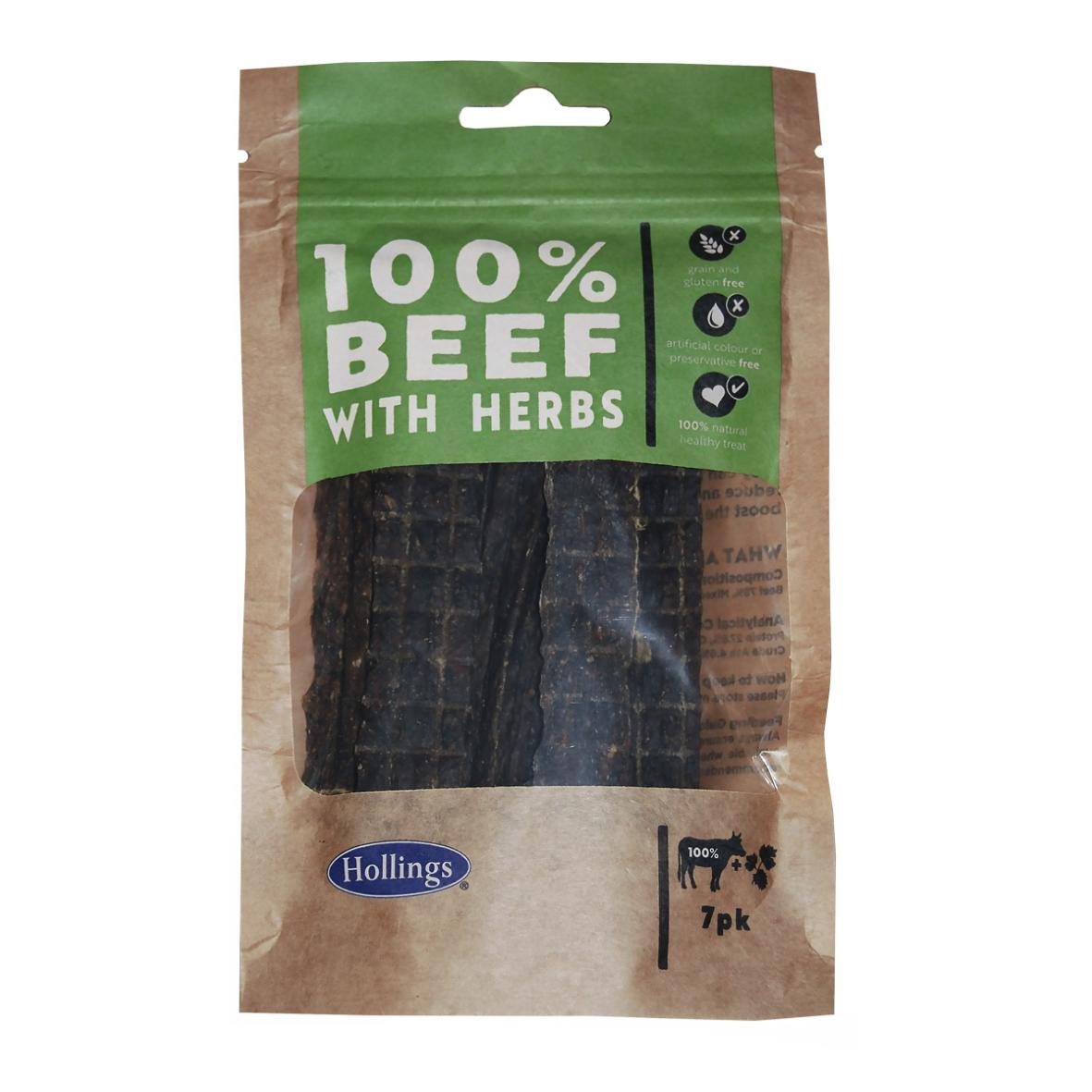 Hollings 100% Beef with Herb Bars 13cm 7pcs
