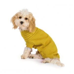 Ancol Muddy Paws Cable Knit Jumper Mustard