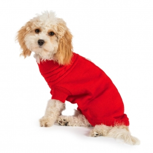 Ancol Muddy Paws Cable Knit Jumper Red