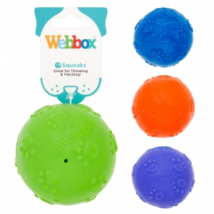 Webbox Squeaky Ball (Assorted Colours)