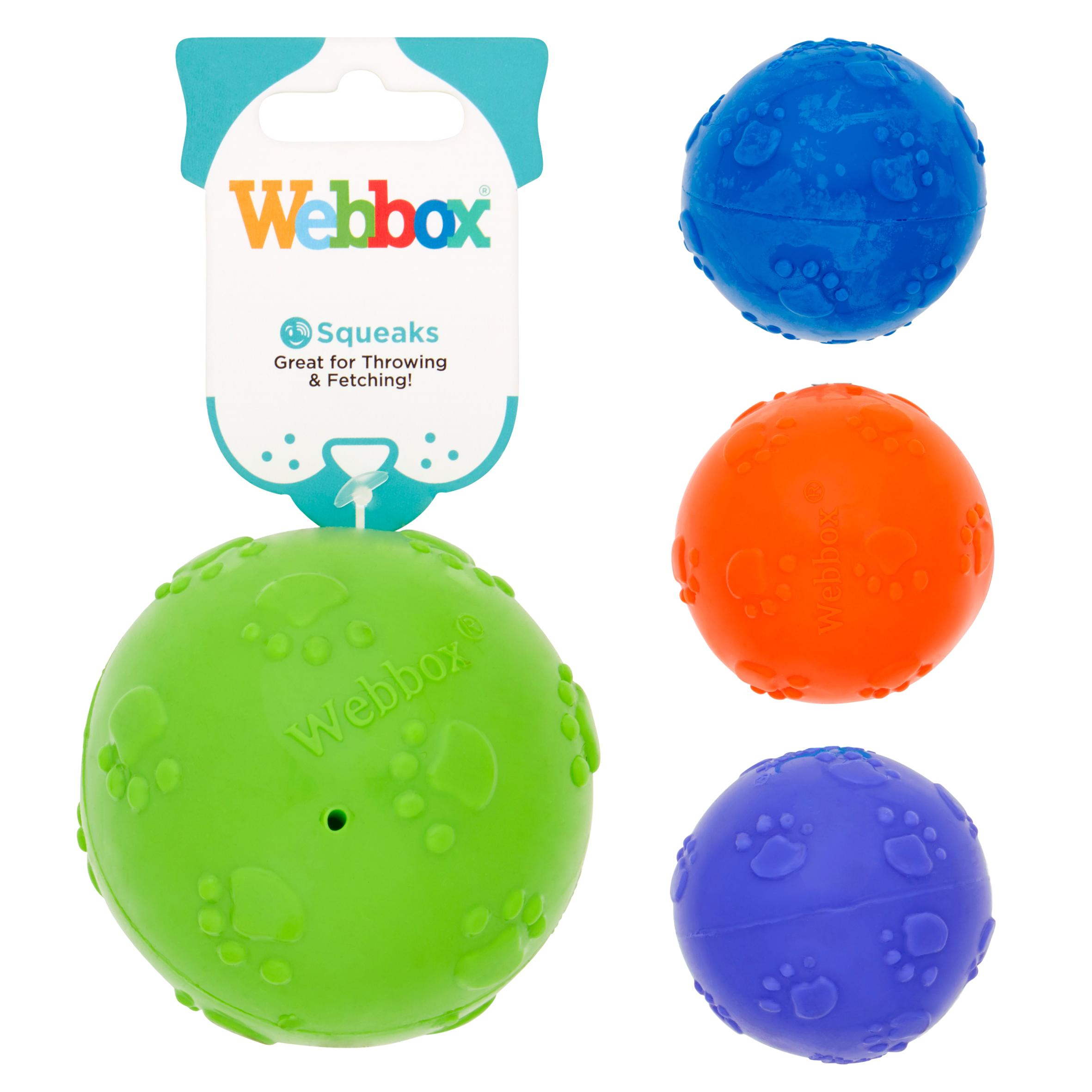 Webbox Squeaky Ball 8cm (Assorted Colours)