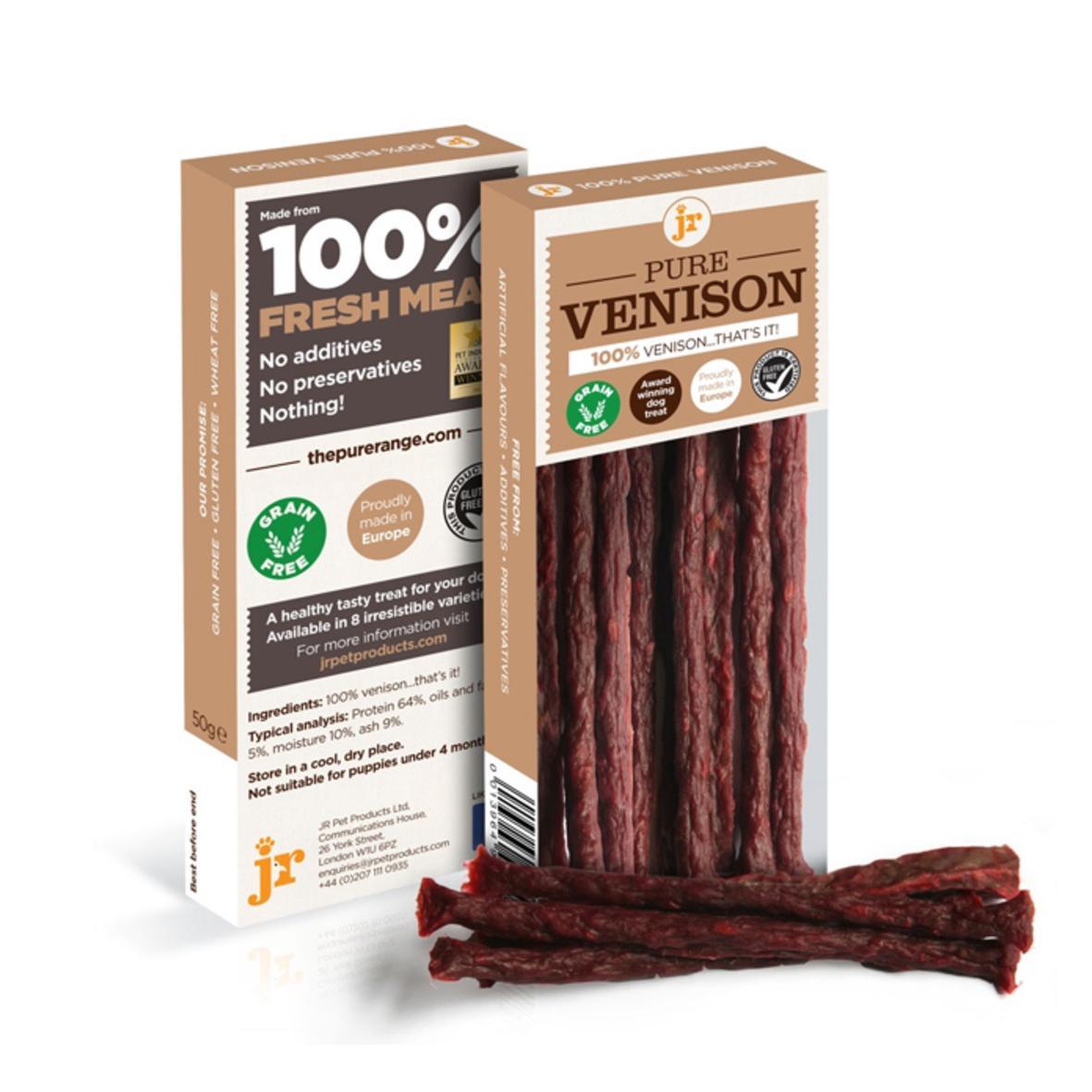 JR Pure Venison Sticks 50gm