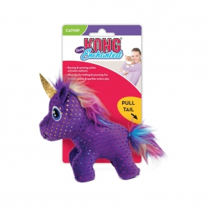 KONG Enchanted Buzzy Unicorn with Catnip