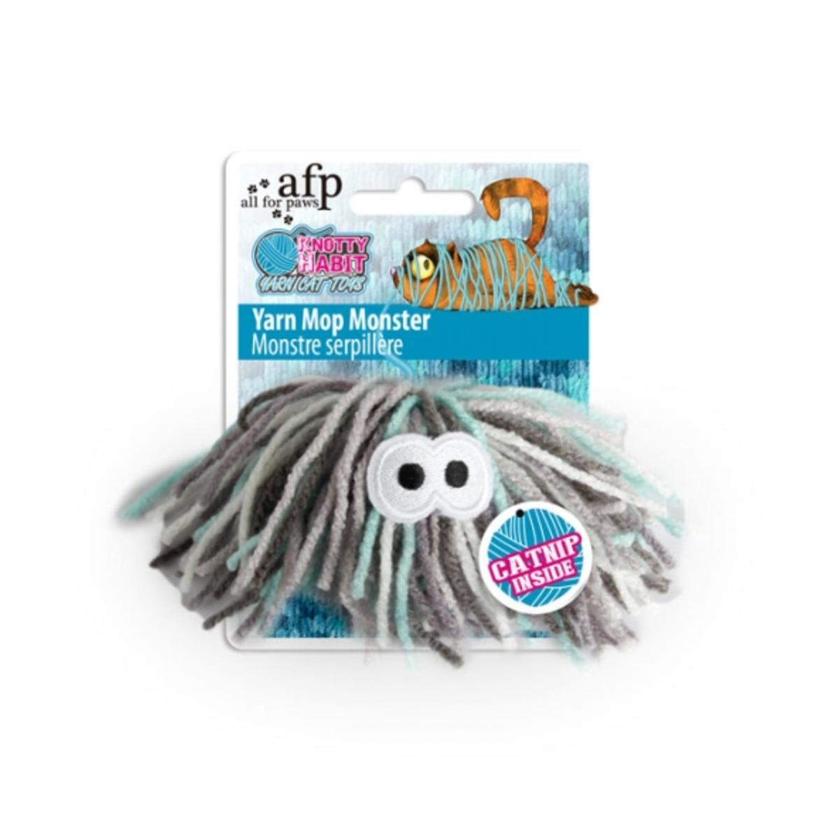 All for Paws Yarn Mop Monster with Catnip 11.5cm