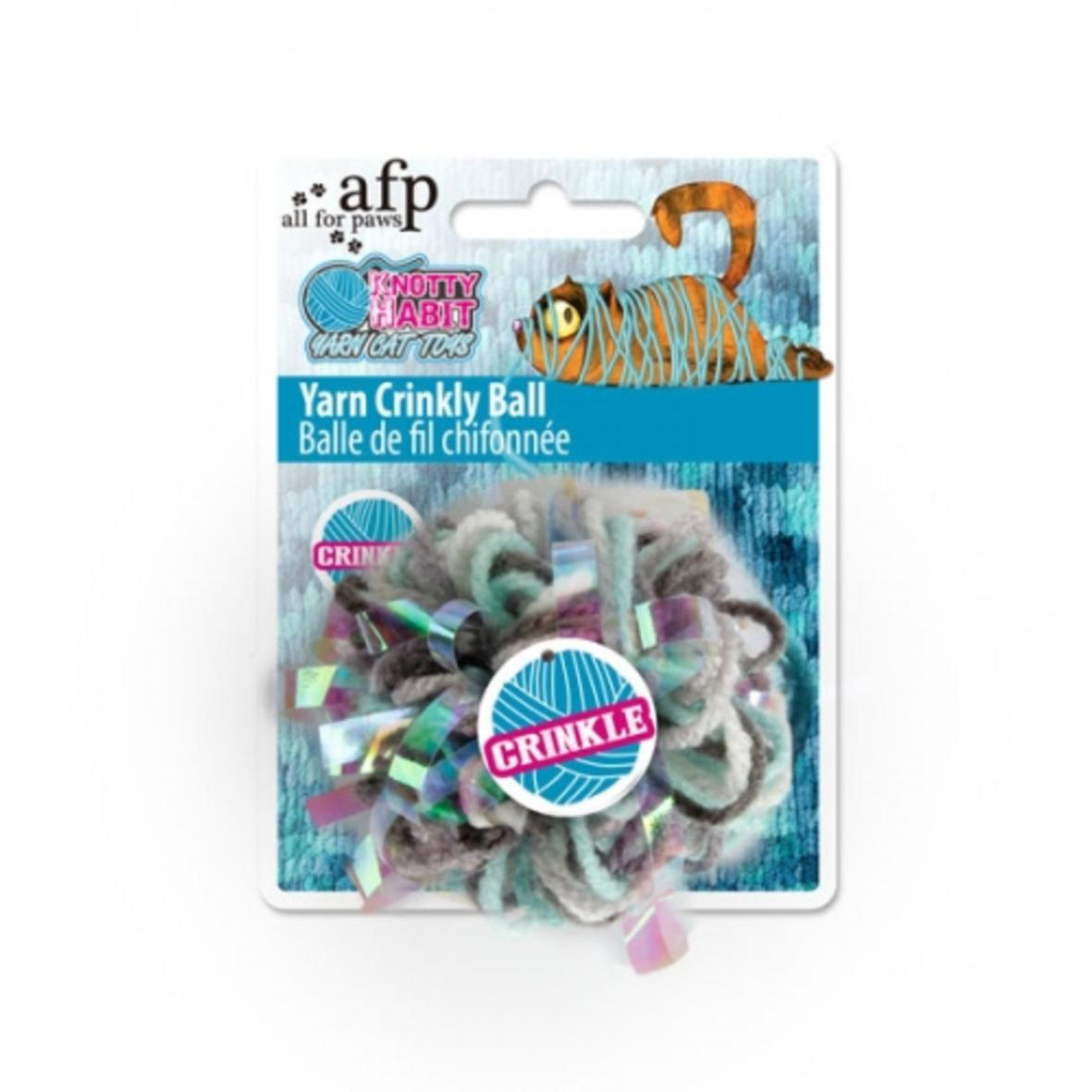 All for Paws Yarn Crinkly Ball 7cm