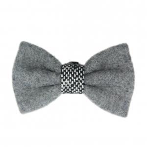 Sotnos Urban Grey Tweed Bow Tie
