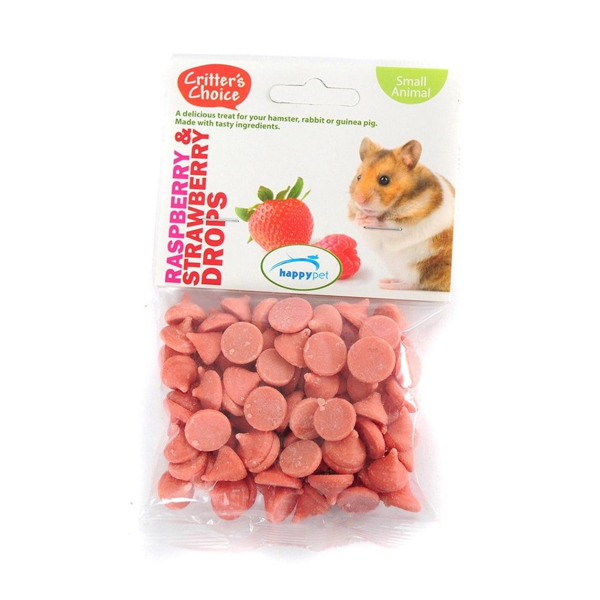 Critters Choice Raspberry & Strawberry Drops 75gm