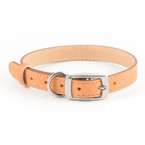 Ancol Heritage Diamond Leather Collar Tan MEDIUM