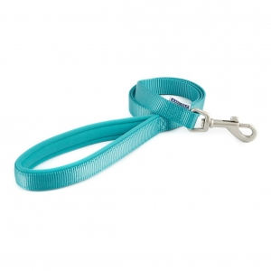 Ancol Heritage Padded Nylon Lead Teal MEDIUM 19mm