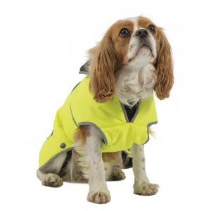 Ancol Muddy Paws Stormguard Dog Coat Hi Vis Yellow