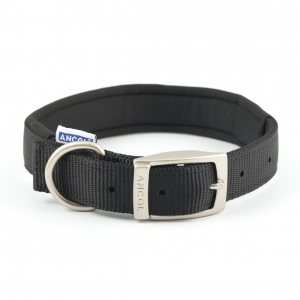 Ancol Heritage Nylon Padded Collar Black