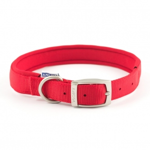 Ancol Heritage Padded Nylon Collar Red