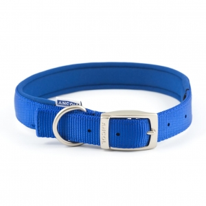 Ancol Heritage Padded Nylon Collar Blue