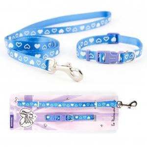 Ancol Small Bite Collar & Set Blue Hearts