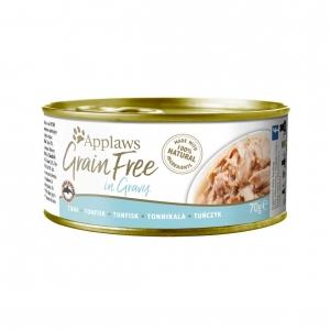 Applaws Cat Grain Free Tuna in Gravy 24 x 70gm