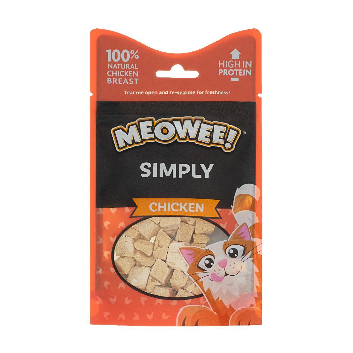 Meowee Simply Chicken Snacks 10gm (Grain/Gluten Free)