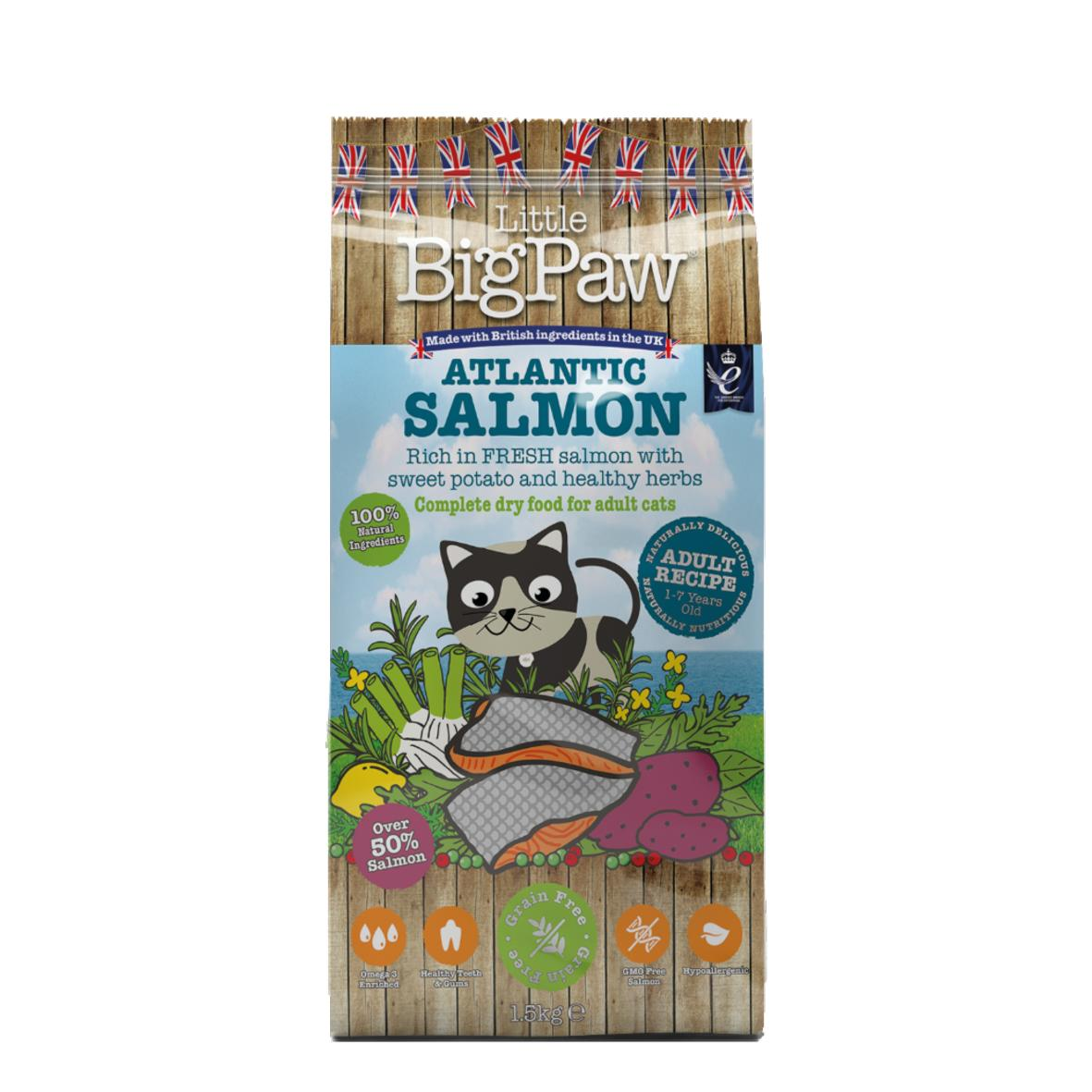CLEARANCE Little BigPaw Complete Cat Atlantic Salmon with Sweet Potato & Herbs 1.5kg