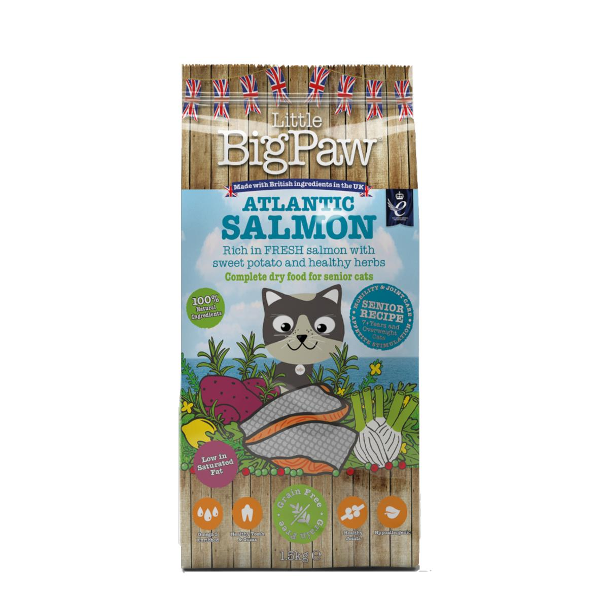 CLEARANCE Little BigPaw Complete Senior Cat Atlantic Salmon with Sweet Potato 1.5kg