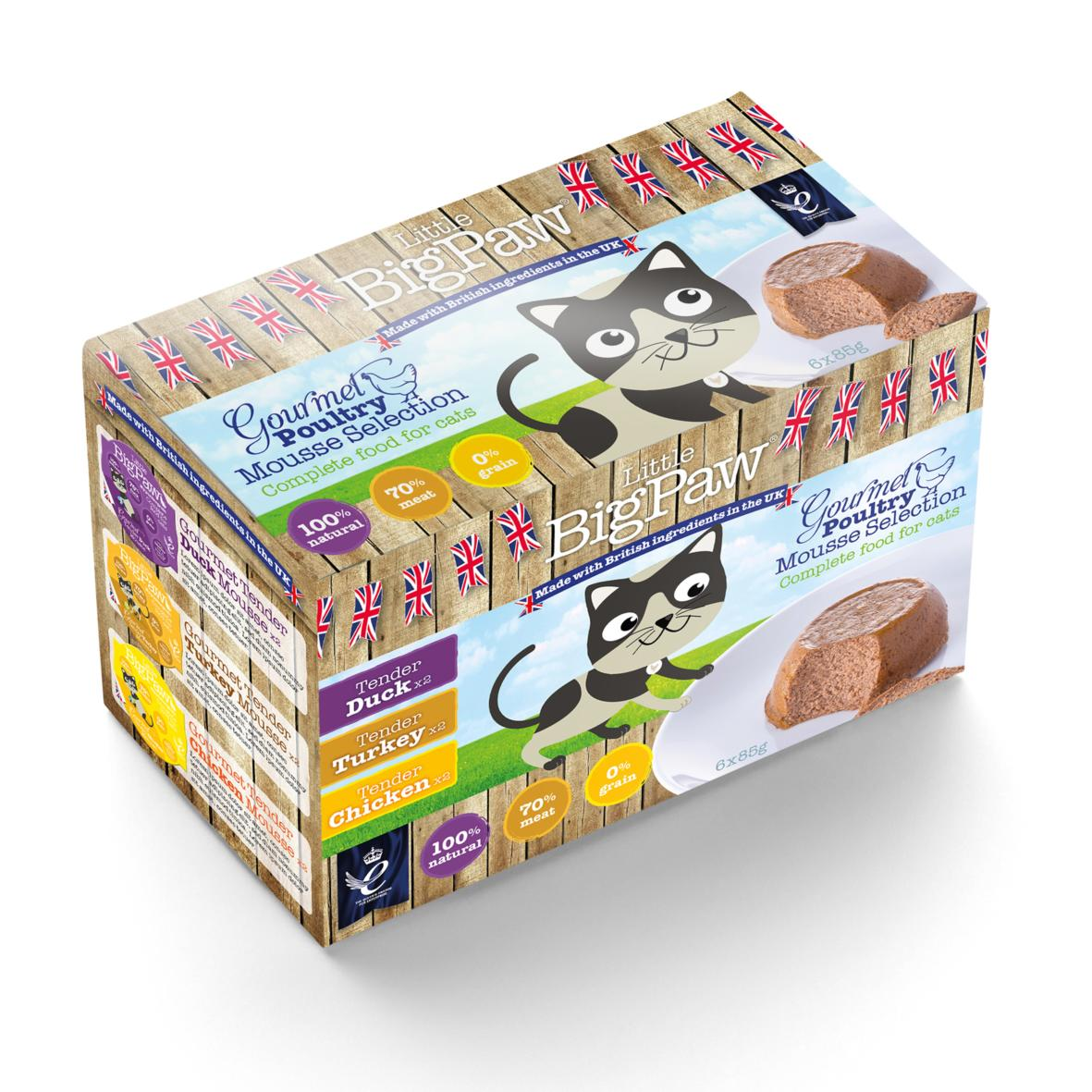 Little BigPaw Gourmet Poultry Mousse Selection 6x85g