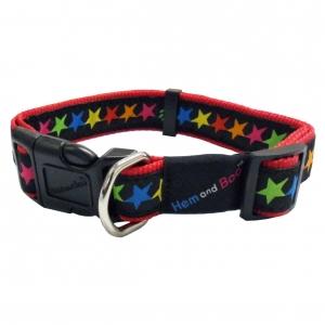 Hem & Boo Black Stars Collar