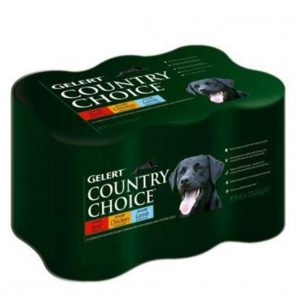 Gelert Country Choice Variety Pack Tins 6 x 1200gm