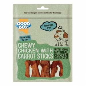 Good Boy Pawsley & Co Chewy Chicken with Carrot Sticks 90gm